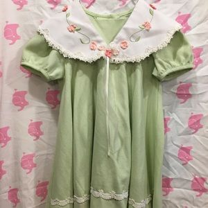 Rare Editions - 2T Green Spring Dress